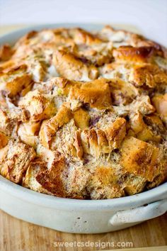 Easy Breakfast Bread Pudding is a delicious, simple breakfast your whole family will love. Great to use up leftover sandwich rolls for a quick breakfast.