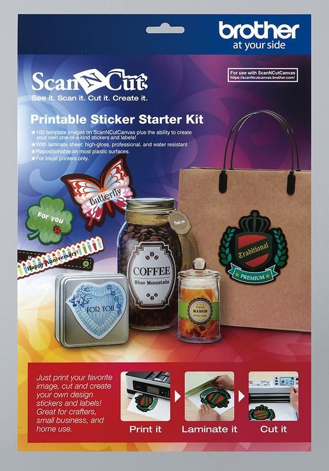 Brother ScanNCut CAPSS1 Printable Sticker Sheet Set