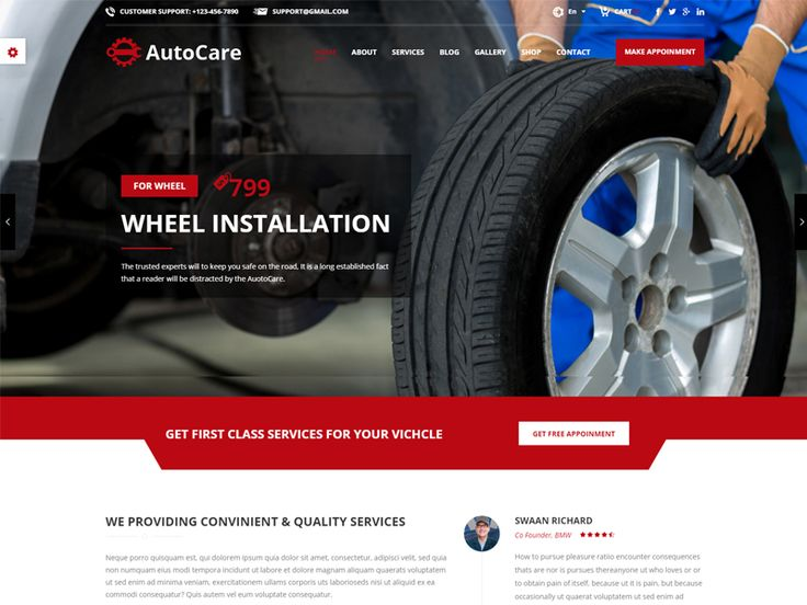 Auto Care is modern and good looking Car Mechanic Free HTML Template perfect fit for car mechanic and auto mechanic. The Auto Care Template is built for Auto Mechanic, Car Repair Shops, Car Wash, Garages, Automobile Mechanicals, Mechanic Workshops, Auto Painting, Auto Centres and other Auto and Car related services and it is suitable for any kind of small business activity.