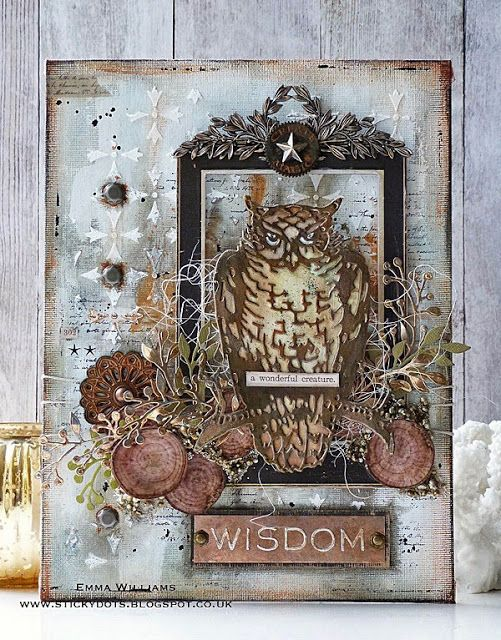 That's Life: Wisdom...created by Emma Williams for the Mythology theme at Simon Says Stamp Monday Challenge Blog