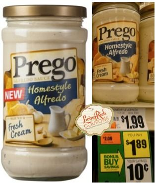 Prego Alfredo Sauce Only $0.39 at Giant - http://www.livingrichwithcoupons.com/2014/02/prego-alfredo-sauce-giant-deal-39.html