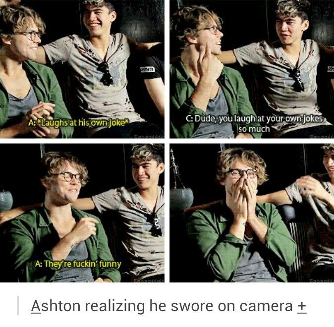 "HES SO ADORABLE OMGG❤️❤️❤️<<< ""I just swore you can't post this anywhere"" ~Ashton Irwin"