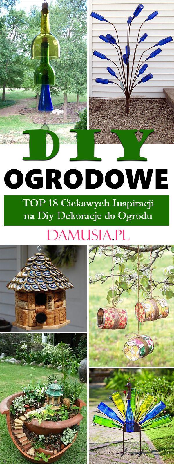 Ogrodowe Diy Top 18 Ciekawych Inspiracji Na Diy Dekoracje Do Ogrodu Plants Bird Bath Outdoor Decor