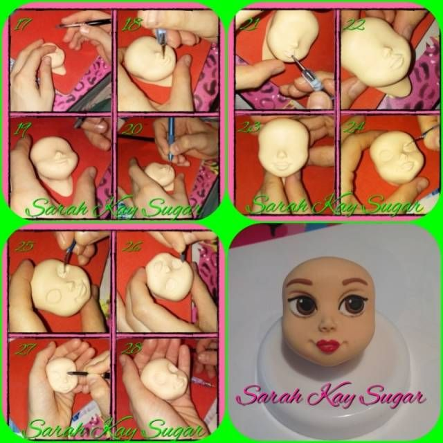 Tutorial face_Tutorial viso by Sarah Kay Sugar - CakesDecor