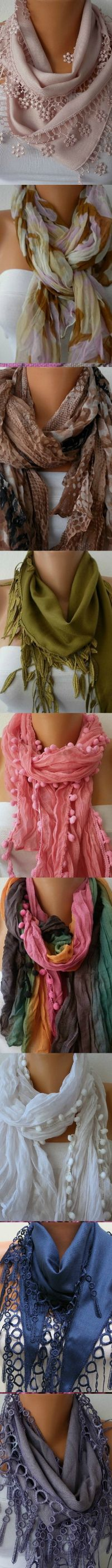 by Fatwoman on Etsy. I think I have pinned these before, but I do love them....I could wear a scarf everyday in the winter....<3