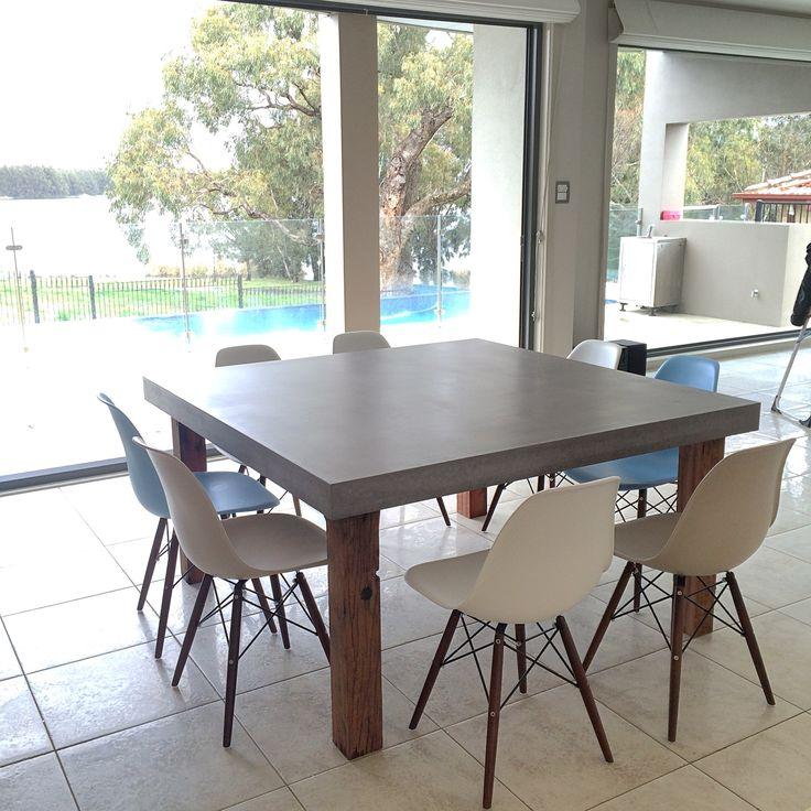 Polished Concrete Table by Mitchell Bink Concrete Design. www.mbconcretedesign.com.au                                                                                                                                                      More