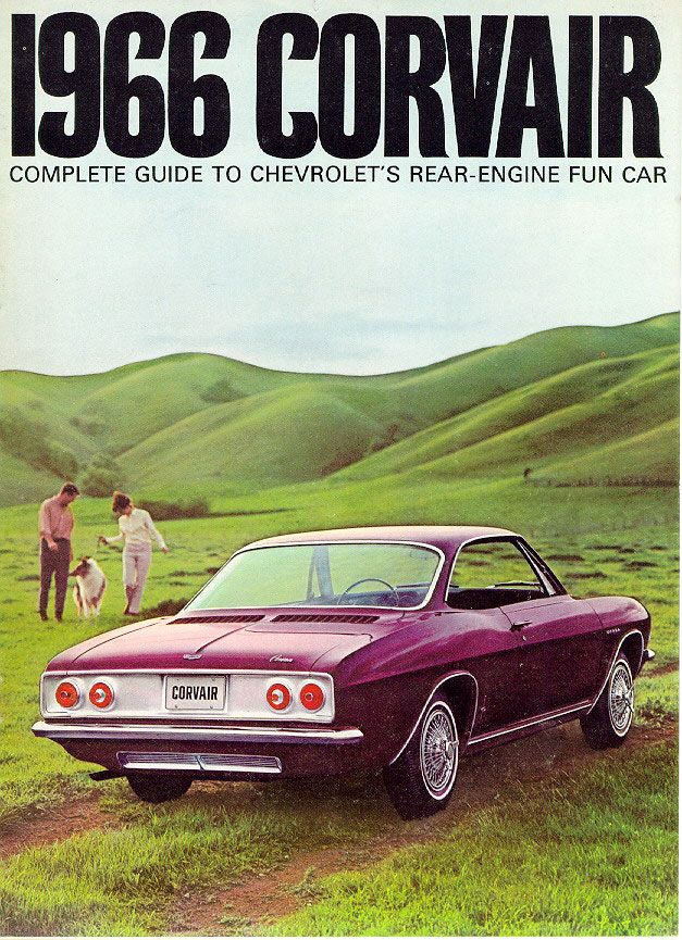 Corvair, 1960s I drove one with a push button transmission.///engine in the rear