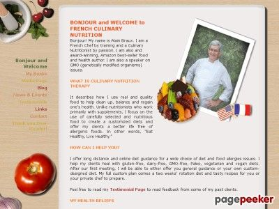 Nice Chef Alain Braux ClickBank Pitch Page - AlainBraux.com