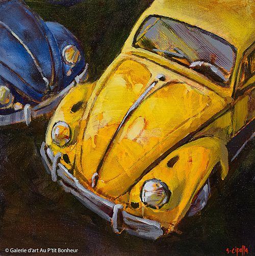 Susie Cipolla, 'Two For The Road', 12'' x 12'' | Galerie d'art - Au P'tit Bonheur - Art Gallery
