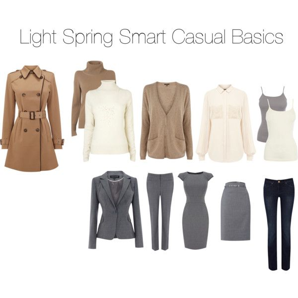 """Light Spring Smart Casual Wardrobe Basics"" by katestevens on Polyvore"