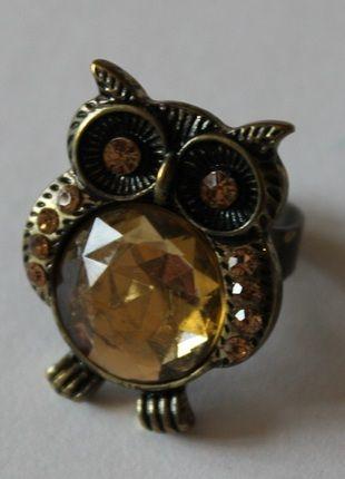 Kaufe meinen Artikel bei #Kleiderkreisel http://www.kleiderkreisel.de/accessoires/ringe/98538238-ring-mit-glitzereule