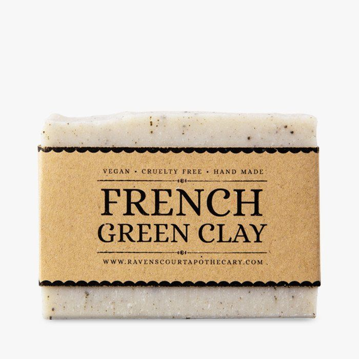 Handmade vegan soap with French green clay #soap #vegan #natural #ravenscourt