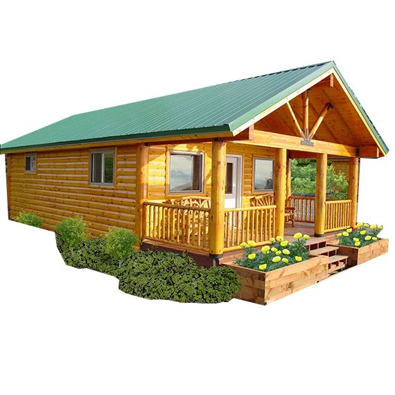 Clark Fork Timber Cabin   Panel Concepts Affordable Modular Log Cabin Kits    Perfect For Camping