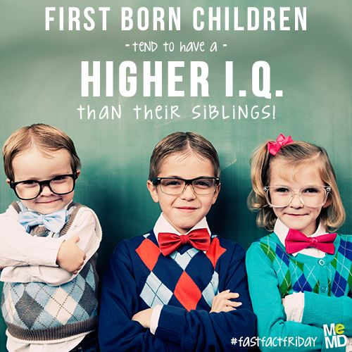 Image result for Science Says the First Born Child Is the Most Intelligent
