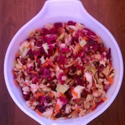 """Cranberry Walnut Slaw   """"So good I ate the leftovers as a snack!"""""""