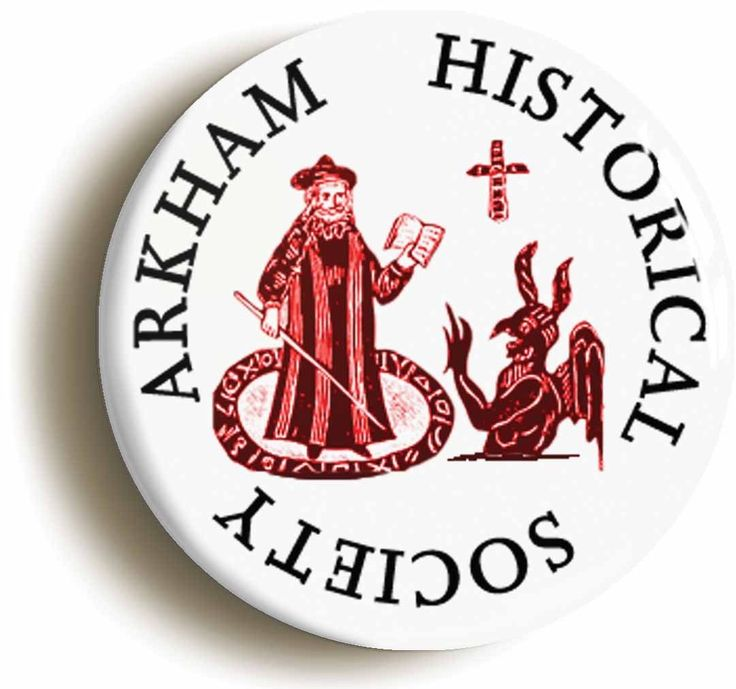 Arkham Historical Society Badge Button Pin 1inch 25mm HP Lovecraft Cthulhu | eBay