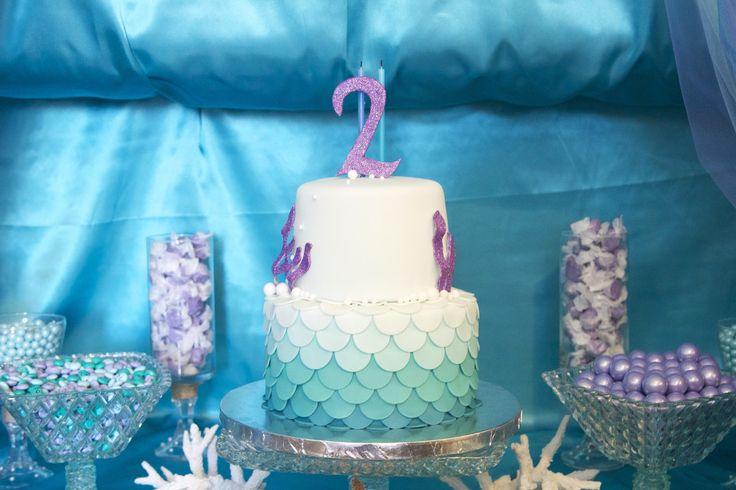 Scalloped ombre cake - #cake #kidsparty: Cakes Kidsparti, Birthday Parties, Mermaids Birthday, Cakes Shadow