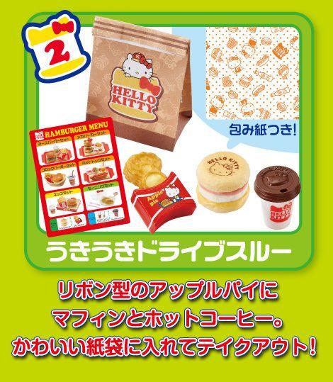 Re-Ment Miniature Sanrio Hello Kitty Burger Restaurant Set # 2 #ReMent