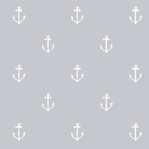 Michael Miller - Best of Sarah Jane Collection - Anchors Away in Fog by Bobbie Lou's Fabric Factory