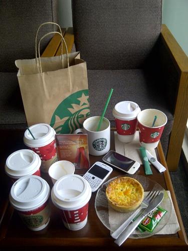 Who says we like Starbucks? We're AVID FANS!