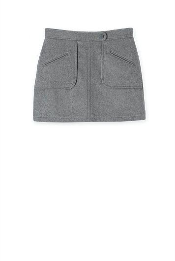 Felt Mini Skirt