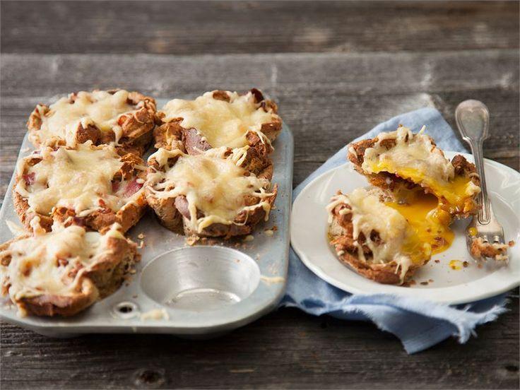 Croque Madame - lämpimät juusto-leipäkupit