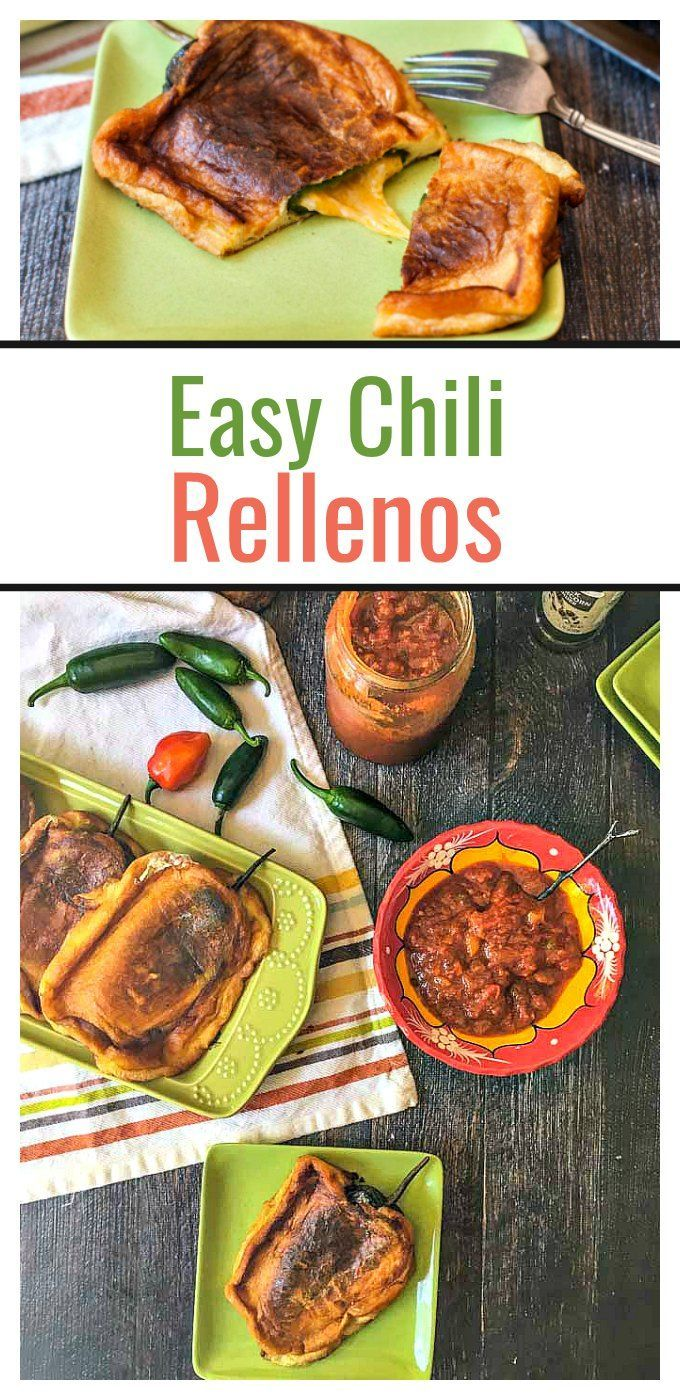Easy Chili Rellenos, a Mexican favorite you can easily make at home. My mom's Italian.  They  stuff things.  They stuff cheese into manicotti, they stuff ground beef and spinach into ravioli.  And they love to...