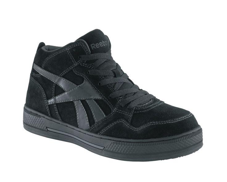 Reebok Mens Black Suede Hi Top Athletic Sneaker Dayod Composite Toe