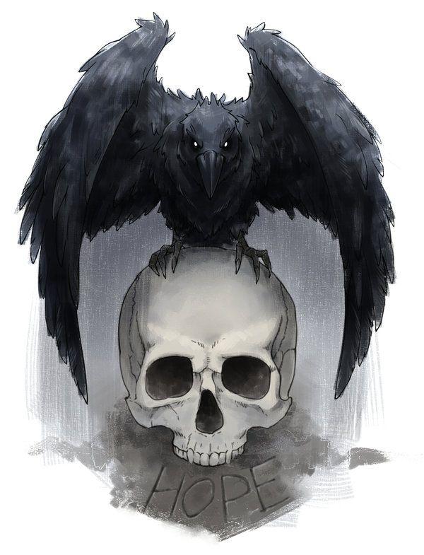 Siempre me han gustado los cuervos, este sera posible mente mi próximo tatuaje, representa la corta linea entre la vida y la muerte, ademas de que las tristezas se podrán superar no importa que. tattoo, crow, raven, skull, live, hope, love
