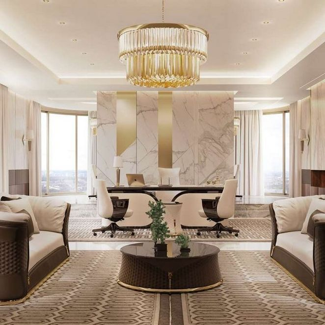 40 How To Choose Luxury Office Home In 2020 Luxury Furniture Office Interior Design Luxury Office
