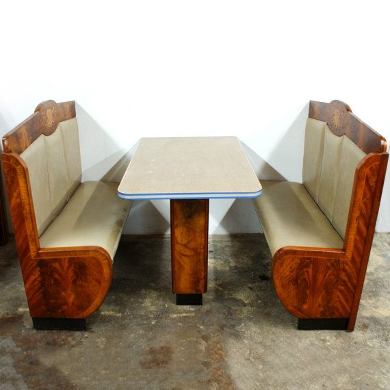 Interior design, decoration, furniture, Vintage 1940s Deco Diner Booth FREE by TheModernHistoric ...