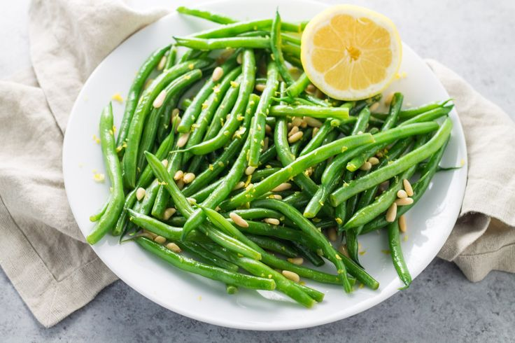 Low Fodmap Lemon Green Beans with Pine Nuts - vegetarian recipe, vegan recipe, easy side dish