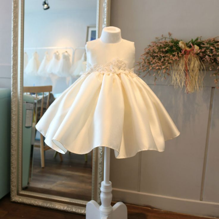 Only $68.99, Flower Girl Dresses High-end Cream White Satin Flower Girl Pageant Dress Formal Weddings #TG7067 at #GemGrace. View more special Flower Girl Dresses now? GemGrace is a solution for those who want to buy delicate gowns with affordable prices, a solution for those who have unique ideas about their gowns. Cheap with free shipping, shop now!