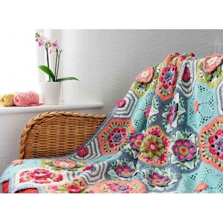 Frida's Flowers Primavera Designed by Jane Crowfoot Re-coloured by Lucia Using Stylecraft Cotton Classic & Batik