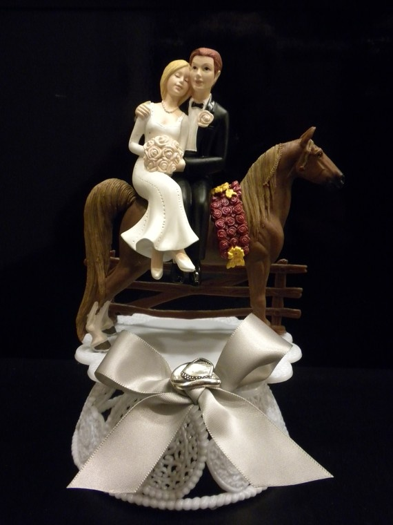 Western Wedding Cake Topper by jessicareid26 on Etsy