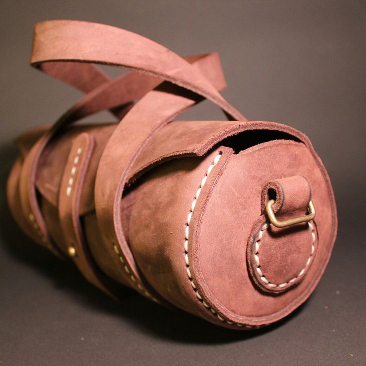leather round boules bag