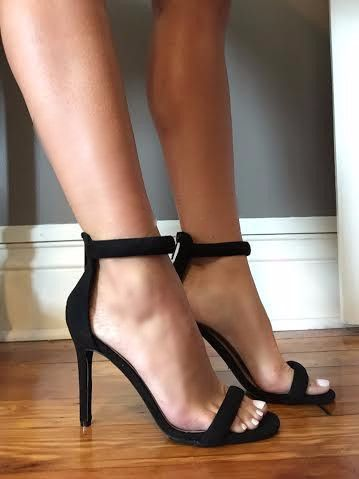 You Will Be At The Top Of Everyone's Priority List In These Beauties. Suede, Zip Back, Open Toe Makes The Simple Outfit Sexy And Classy. Style With Jeans Or Your Favorite Dress. Steal The Show. 4 Inch