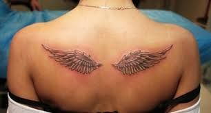 Image result for wings tattoo on back women