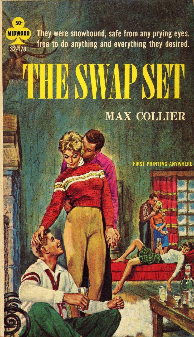The Swap Set  Pulp Art Paperback Cover Erotic Sex Vintage -3242