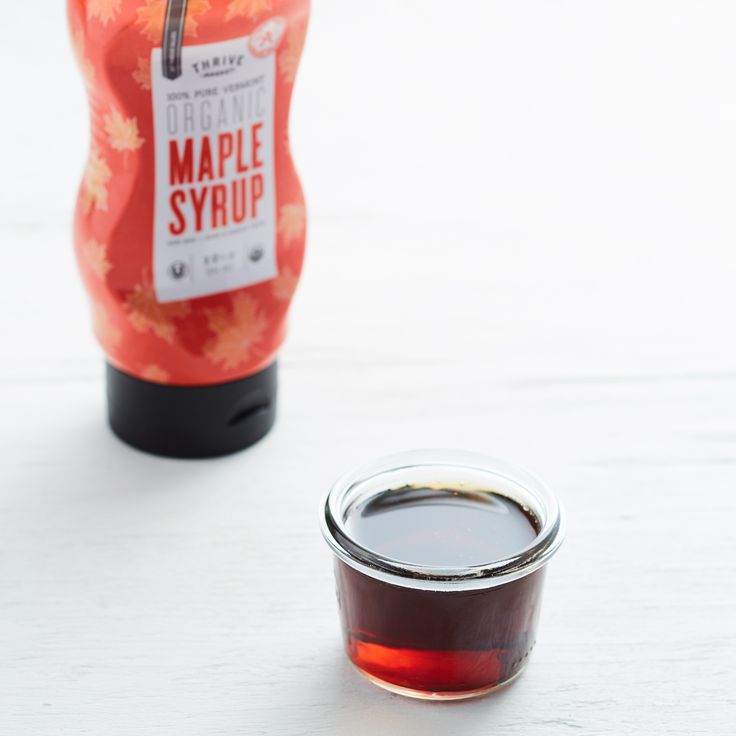 Taste the difference with Thrive Market's Grade A Organic Maple Syrup. It's the darkest syrup available and is naturally organic, as well as non-GMO.