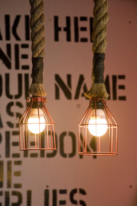 Manila Rope Pulley light by Atelier688 on Etsy
