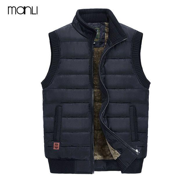 MANLI 2018 Autumn Winter Men Coat Warm Sleeveless Jacket JEEP Brand Men  Vest Coat Fleece Army green Waistcoat Cameraman Ves…   Jeep brand, Hiking  vest, Stand collar
