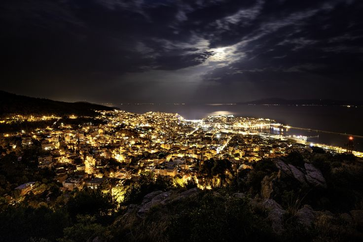 Kavala under the full moon - Kavala, my city, under yesterday's 10th of August 2014, full moon.