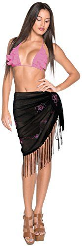 Short SKIRT Women Swimwear Beachwear Bikini BATHING SUIT Wrap Scarf Half Sarong. Do YOU want SARONG in other colors Like Red ; Pink ; Orange ; Violet ; Purple ; Yellow ; Green ; Turquoise ; Blue ; Teal ; Black ; Grey ; White ; Maroon ; Brown ; Mustard ; Navy ,Please click on BRAND NAME LA LEELA above TITLE OR Search for �LA LEELA� in Search Bar of Amazon. SOFT Sarong with PLENTY OF Wrap Around MATERIAL. ONE SIZE SARONG - LENGTH 52 INCHES X WIDTH 21 INCHES (132 Centimeters X 53 Centimeters)…