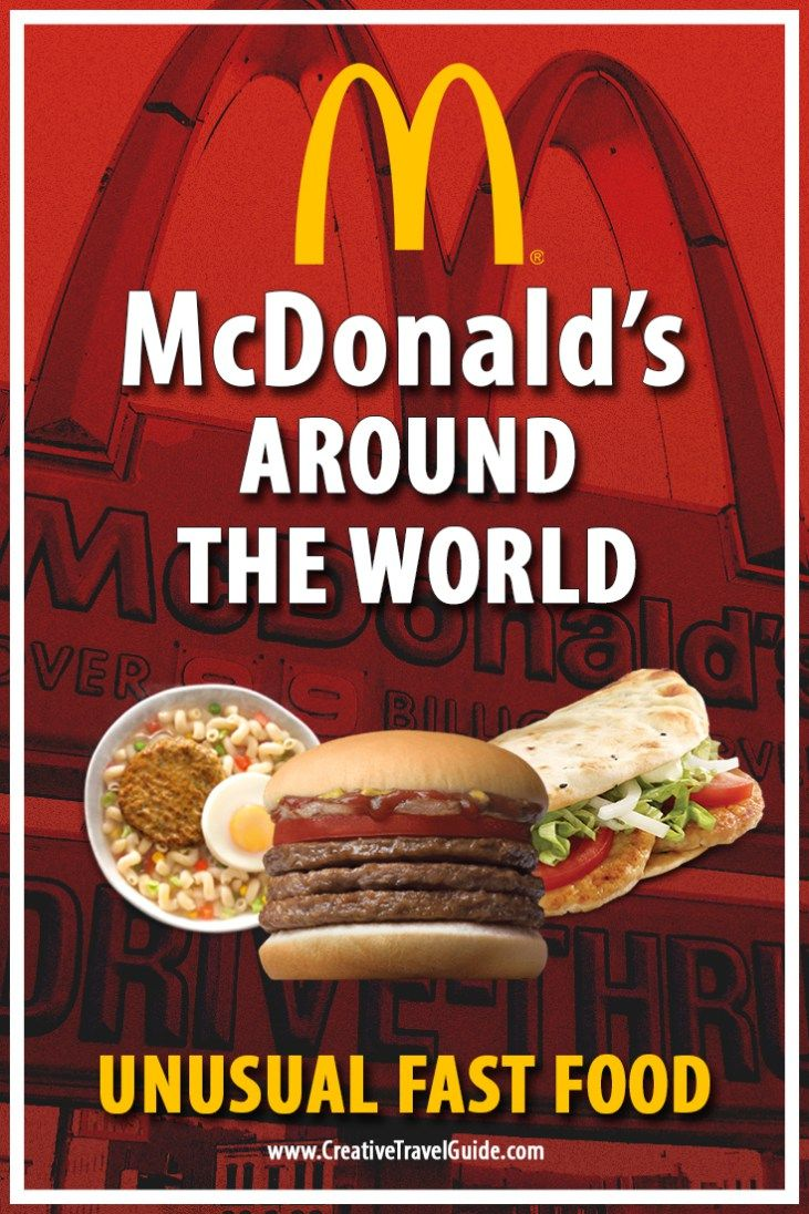 McDonald's Around the World – Unusual Fast Food