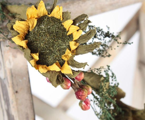 22 Best Images About Dried Sunflowers On Pinterest