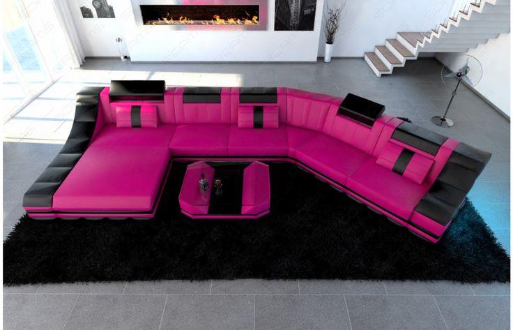 25 best ideas about wohnlandschaft leder on pinterest. Black Bedroom Furniture Sets. Home Design Ideas