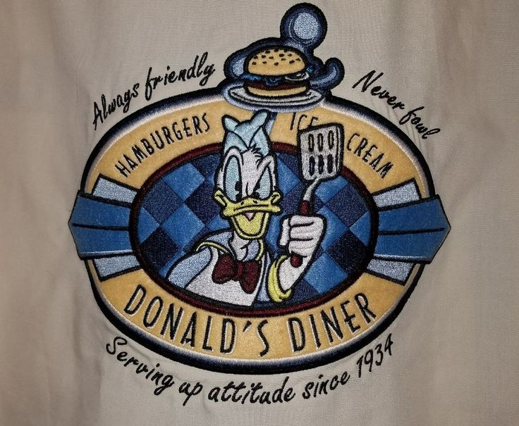 Disneyland Resort  Donald Duck Diner Mens Size XL Casual Resort Bowling Shirt | Clothing, Shoes & Accessories, Men's Clothing, Casual Shirts | eBay!