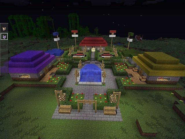 minecraft pokemon town