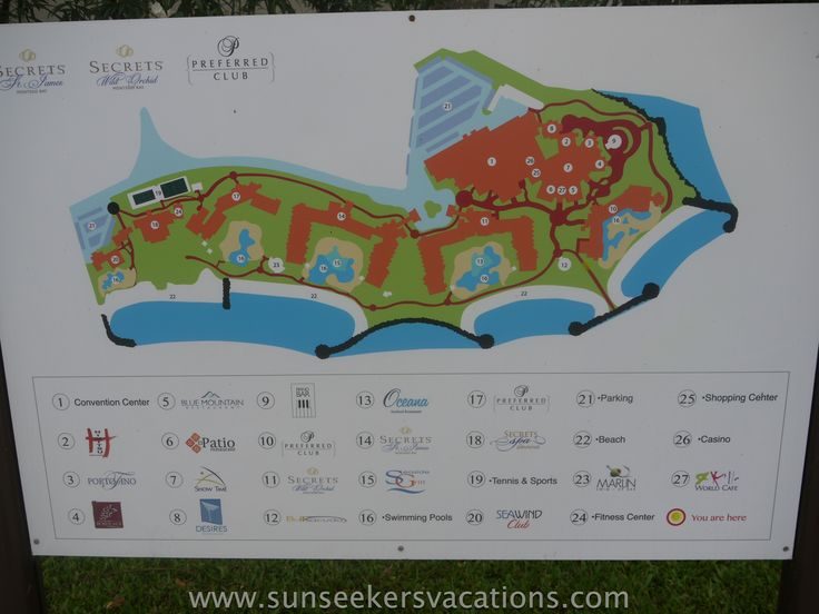 Resort map of Secrets St. James and Secrets Wild Orchid in Jamaica Plan the perfect #Jamaican #Getaway at #LunaSeaInn www.lunaseainn.com